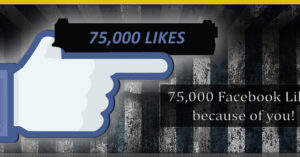 We made it to 75,000 likes, and have much more on the way!