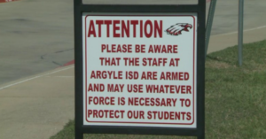 """Texas School District Now Has Signs That Say """"Hey Bad Guys, We Will Shoot Back"""""""