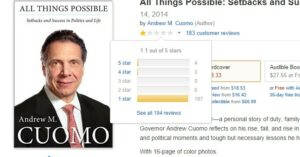 Andrew Cuomo's New Book: All Things Possible; Including The Worst Book Reviews In History