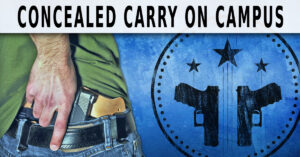 A Student Fighting For Concealed Carry Rights On Campus Is Shot . . . On Campus