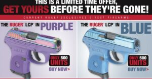 Want A Limited Edition Ruger LCP In Blue Or Purple?