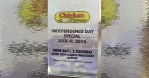 Free Chicken For Concealed Carriers On July 4th