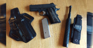 #DIGTHERIG – Tim and his Sig Sauer .45 1911 Ultra Compact Nitron in a Galco Holster