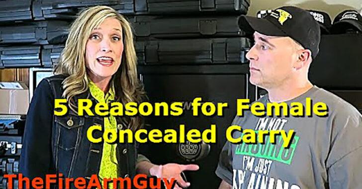 [VIDEO] 5 Reasons Why Women Should Carry A Gun