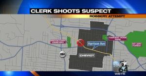 Armed Clerk Draws Pistol, Stops Armed Robber