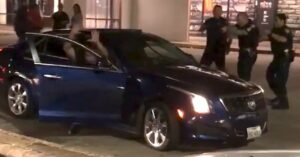 [VIDEO] Drive-by Shooting Caught On Video, Cops At Right Place At Right Time