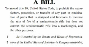 10 Republicans Back New Bill That Would Ban Bump Fire Stocks