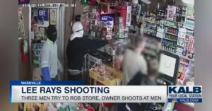 Intense Video Released By Store Owner Shows Armed Robbery Suspects VS Store Owner