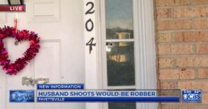 Victim's Husband Shoots Robber Dead During Holdup