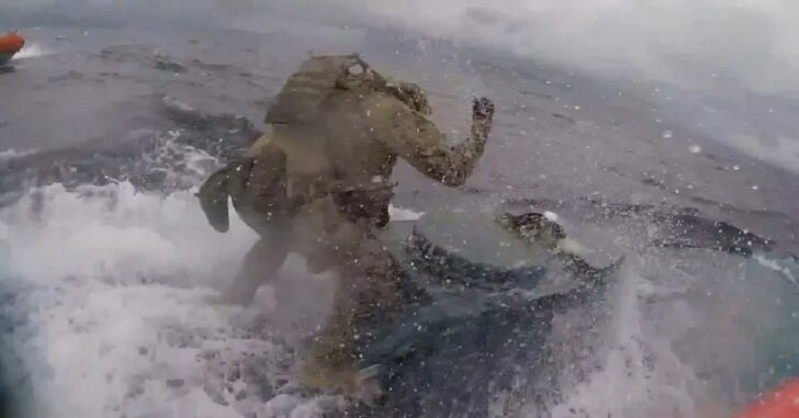[VIDEO] Coast Guard Hops On Top Of Submarine During Pursuit