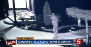 Dad Surprises Strange Suspect At House, Fires Warning Shot and Holds Him At Gunpoint Until Police Arrive