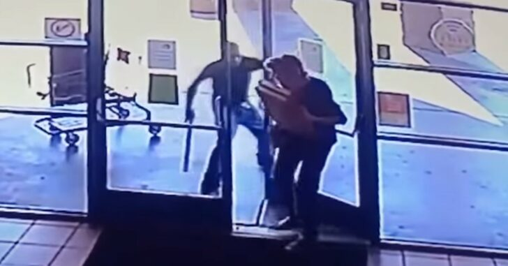 Bad Guy Holds Door Open For 77-Year-Old Woman, Then Beats Her For Her Pizza