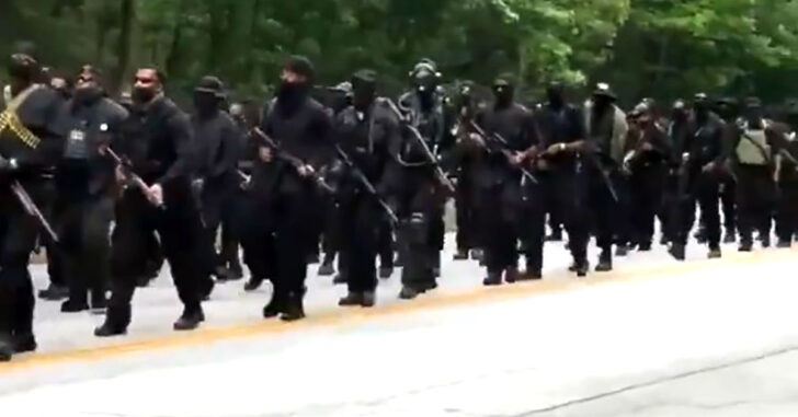 """Armed Militia Called NFAC (Not F*cking Around Coalition), Marches On KKK Rally Location. """"We In Your House. Where You At?"""""""