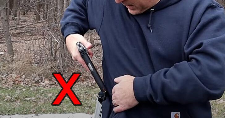 BEGINNERS: How To Safely Holster A Handgun