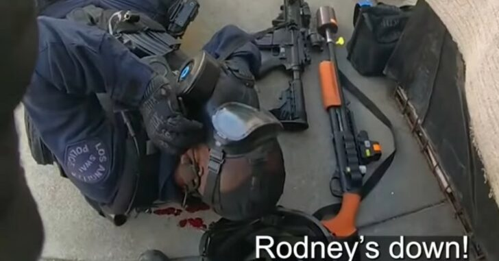 Dramatic Video Shows LAPD SWAT Officer Shot During Standoff