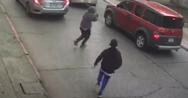 Video Shows The Last Time This Armed Robber Will Run, Because He's About To Be Shot In The Spine By His Intended Victim